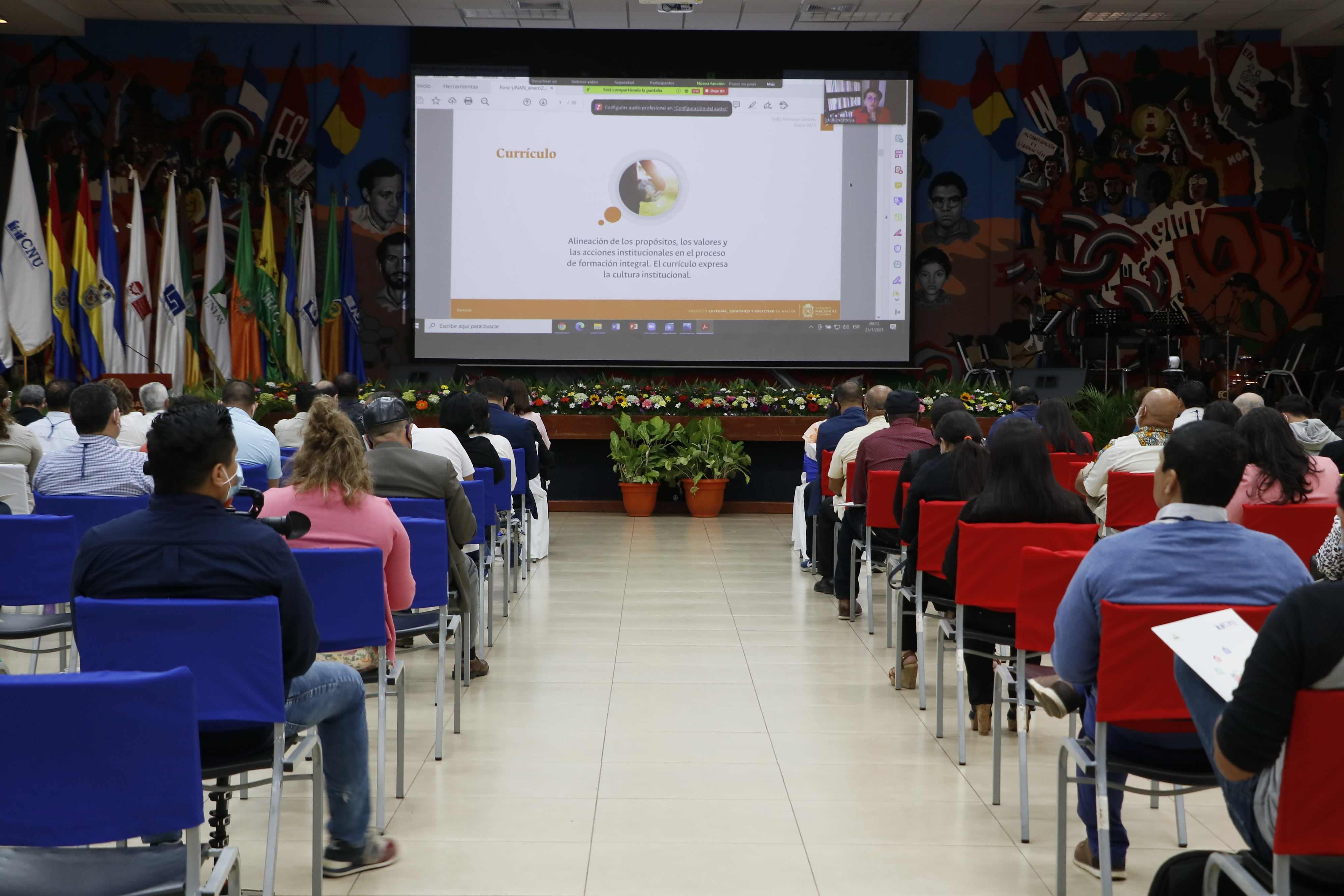 "Participants of the forum ""Higher Education in Nicaragua 2020 and the impact of COVID-19"""