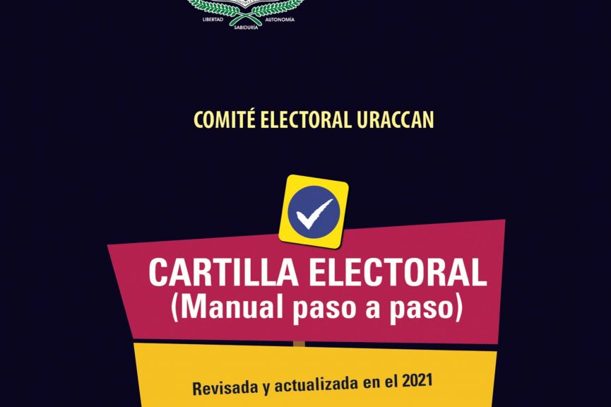 Cartilla electoral (Manual paso a paso) URACCAN 2021